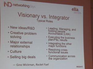 Diferencias entre visionarios e integradores